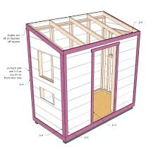 Ana White Firewood Shed by 4 X 8 Shed Plans Corglife