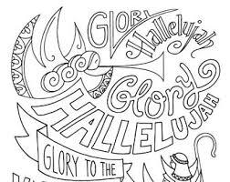 Glory Hallelujah Shepherd Dad Christmas Coloring Page Angels Kids Holiday Slugs And