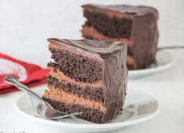 For serious chocolate lovers This decadent chocolate cake with chocolate mousse filling is THE thing
