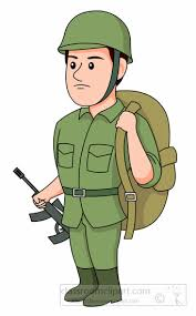 Soldier With Backpack Rifle Clipart Size 90 Kb