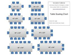 Table Sizes And Seating