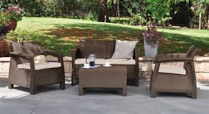 Keter Rattan Lounge Chairs by Keter Corfu Resin Love Seat With Cushions All Weather Plastic