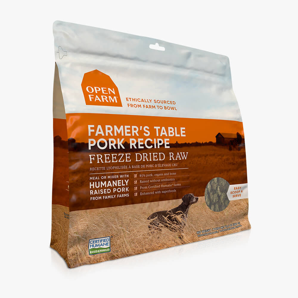 Open Farm Farmers Table Pork Freeze Dried Raw Dog Food - 13.5 oz