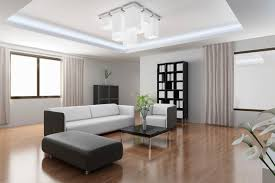 Minimalist Living Room Design With White And Black Furniture Wood Floor Small Coffee