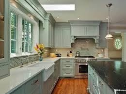 kitchen country grey kitchen cabinet with island and chromed