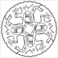 Coloriage Loup Mandala Élégant Coloriage De Pour Adultes