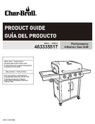 Patio Bistro Gas Grill Manual by Char Broil 4 Burner Gas Grill All Black Walmart Com