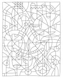 Super Hard Coloring Pages Complex Color By Number Pin
