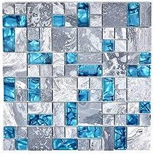 glas und gebürstetem edelstahl mosaik fliesen matte in gold