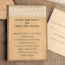 DIY Country Rustic Craft Lace Wedding Invitations