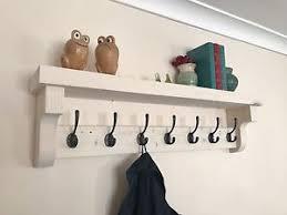 Image Is Loading New Handmade Coat Hook Rack With Shelf Rustic