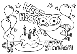 Free Download Coloring Printable Happy Birthday Pages For