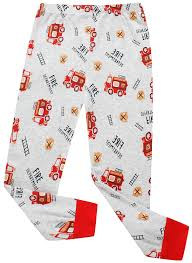 Amazon.com: Litlle Boys Fire Truck Pajamas 100% Cotton Christmas PJS ...