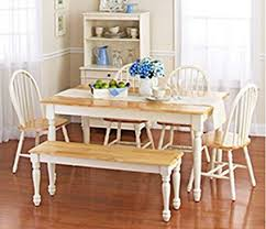 White Dining Room Set With Bench This Country Style Table And Chairs For
