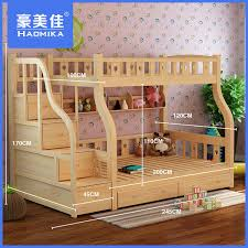 Desk Bunk Bed Combination by Under Wood Furniture Bunk Bed Combination Of High And Low Picture
