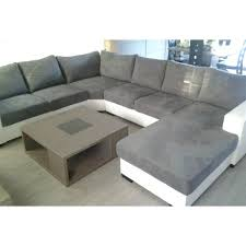 canapé gris et blanc pas cher grand canapé d angle 6 places gris et blanc spacieux et