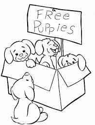 Cute Puppies Coloring Pages Free