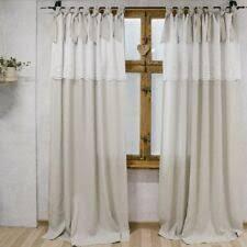 gardinen vorhänge im landhaus stil aus leinen fürs
