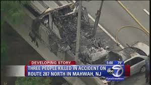 3 Victims Identified In Accident On Route 287 In Mahwah | Abc7ny.com Union Firefighters Extricate Driver From Rt 78 Truck Accident 11815 Nj Turnpike I95 Crash Black Ice Trailer Flip Youtube Chesterfield Animation 3 People Killed In Involving Ctortrailer On I280 East Garbage Truck Crashed Into A Wooded Area Of Goffle Brook Park In Man Dies With New Jersey Police Nbc Crashes After Losing Brakes On Hill Hawthorne 1 Dead Overturned Flyengulfed Dump Shuts Down Two 43 Injured School Bus Torn Apart Crash Tractor Trailer Overturns Route 55 Harrison Twp Gloucester 322 Reopens Headon Logan 6abccom
