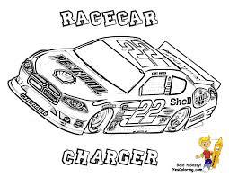 Plain Design Race Cars Coloring Pages Mega Sports Car Free NASCAR
