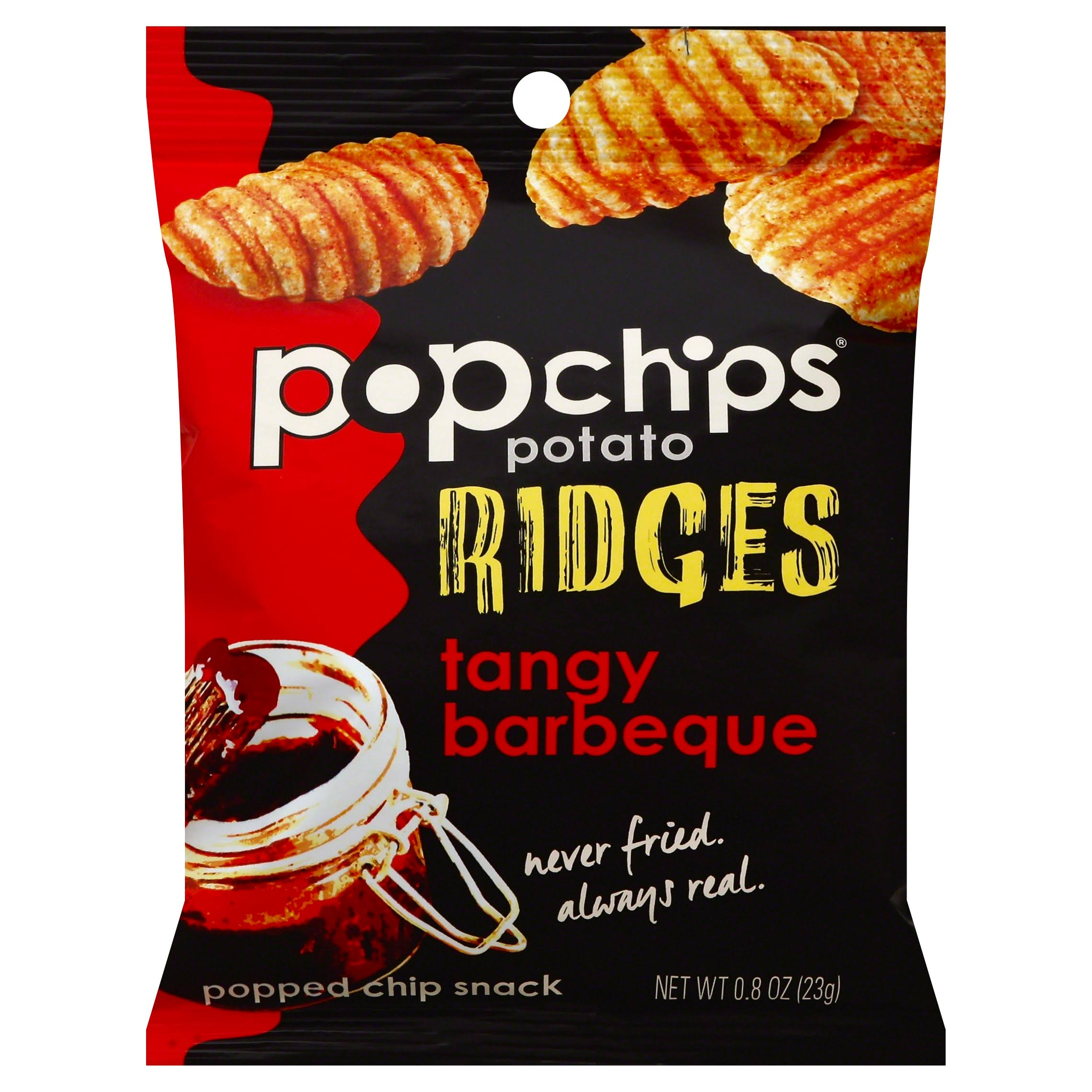 Pop Chips Potato Ridges Chips - Tangy Barbeque, 23g