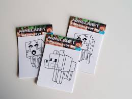 Minecraft Coloring Book Party Favors