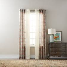 jcpenney home batiste paisley solid sheer grommet top curtain