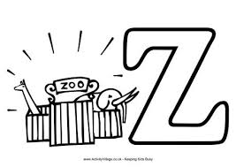 Z Is For Zebra Coloring Page Learning Alphabet Letter