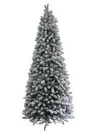 10 Foot King Flock Slim Artificial Christmas Tree Unlit