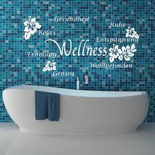 wandtattoo wellness hibiskus schmetterling fürs bad