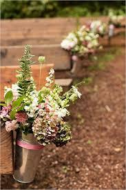 Rustic Outdoor Wedding Ceremony Decorations Aisle Decor