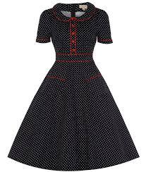 pretty 50 u0027s inspired polka dot tea dress made from medium weight