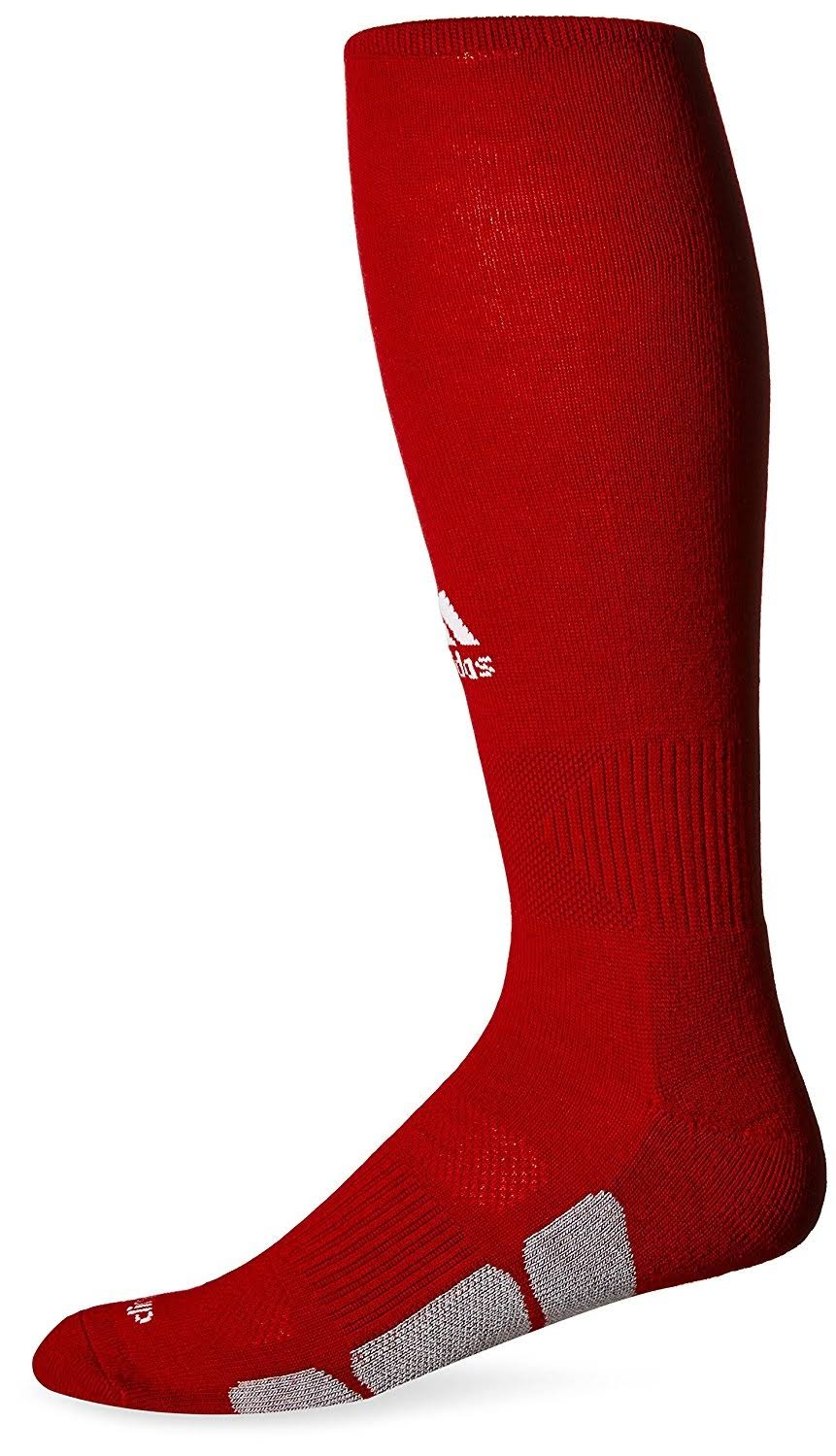 Adidas Utility Long Soccer Socks - Red, X-Small