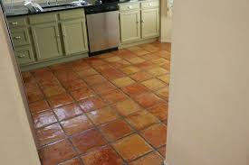 Mexican Tile Tucson Arizona by Dusty Coyote Stripping And Sealing A Saltillo Tile Floor