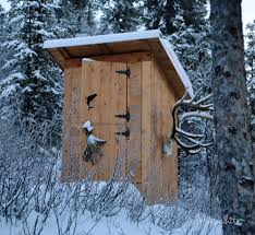 ana white outhouse plan for cabin diy projects