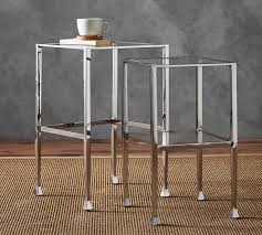 Tanner Nesting Side Tables - Polished Nickel Finish | Pottery Barn AU Pottery Barn Tanner Coffee Table Style Bitdigest Design Famous Knock Off Townsend For Sale Round Pertaing To Console Polished Nickel Finish Au Nesting Side Tables Bronze Uncategorized Ideas Interior Decor Griffin Au And Gorgeous 61 Inspiring Used