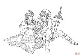 Click The Link And Zelda Coloring Pages