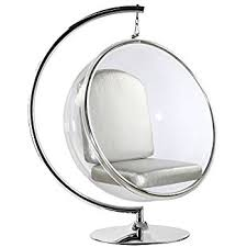 Hanging Bubble Chair Cheapest by Amazon Com Modway Eei 111 Slv Ring Lounge Chair In Silver