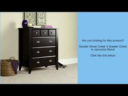 shoal creek dresser jamocha sauder shoal creek 4 drawer chest in jamocha wood