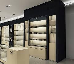 Wall Mounted Wood Shoe Display Cabinet From Guangzhou Dinggui