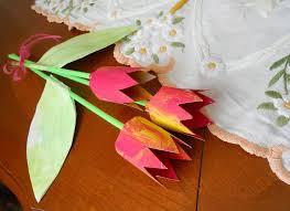 tulipes en rouleaux de papier toilettes la maison féerique