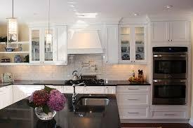 Kitchen Backsplash Ideas With Dark Wood Cabinets by Kitchen Engaging Kitchen Backsplash White Cabinets Dark Floors