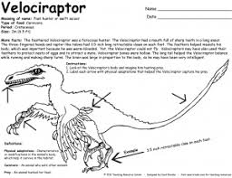 Free Printable Dinosaur Facts And Coloring Page Velociraptor