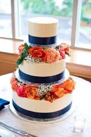 Wedding Cake Our Harbor Nautical Themed Colors Navy Gray