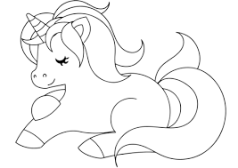 Click To See Printable Version Of Cute Unicorn Coloring Page