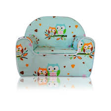 siege en mousse pour bébé fauteuil pour enfant canapé siège enfant en mousse 07 hibou vert