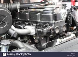 100 Parts Of A Truck The Forklift Truck Engine Shown Detail Of Parts Stock Photo