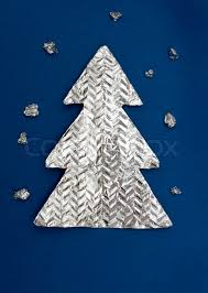 Christmas Tree Made Out Of Foil