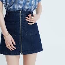 denim zip mini skirt mini madewell