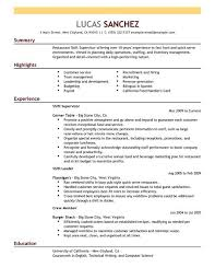 Sample Restaurant Resume 10 Examples In Pdf Word
